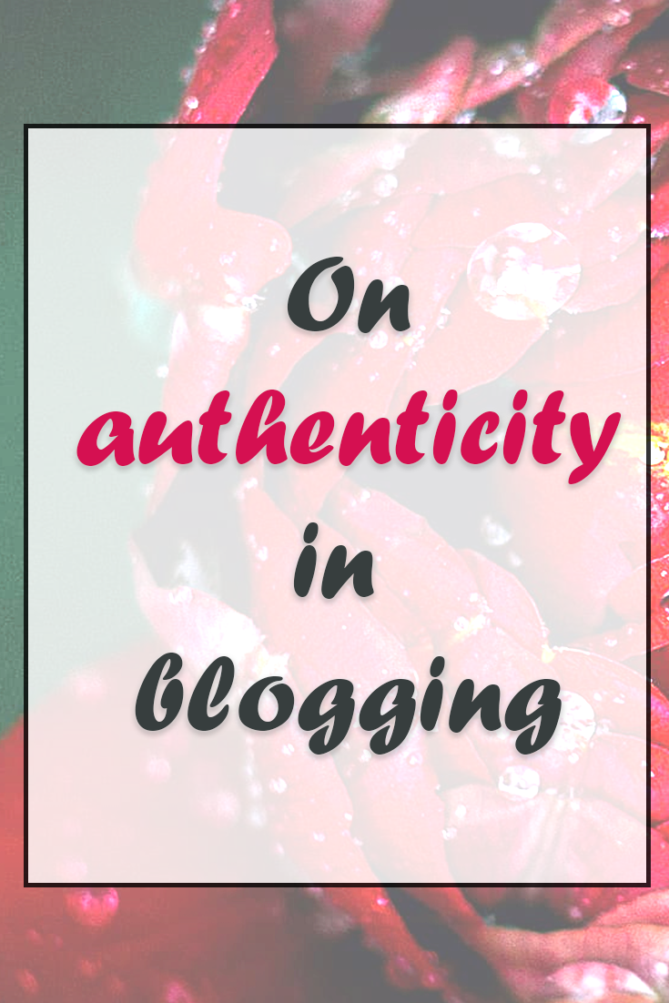 On authenticity in blogging