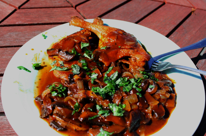 duck with tomato jus
