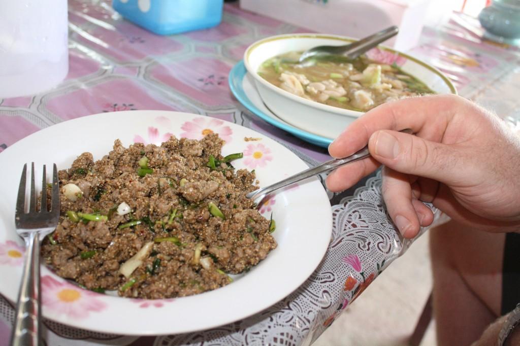 larb gai thai mince meat salad koh lanta