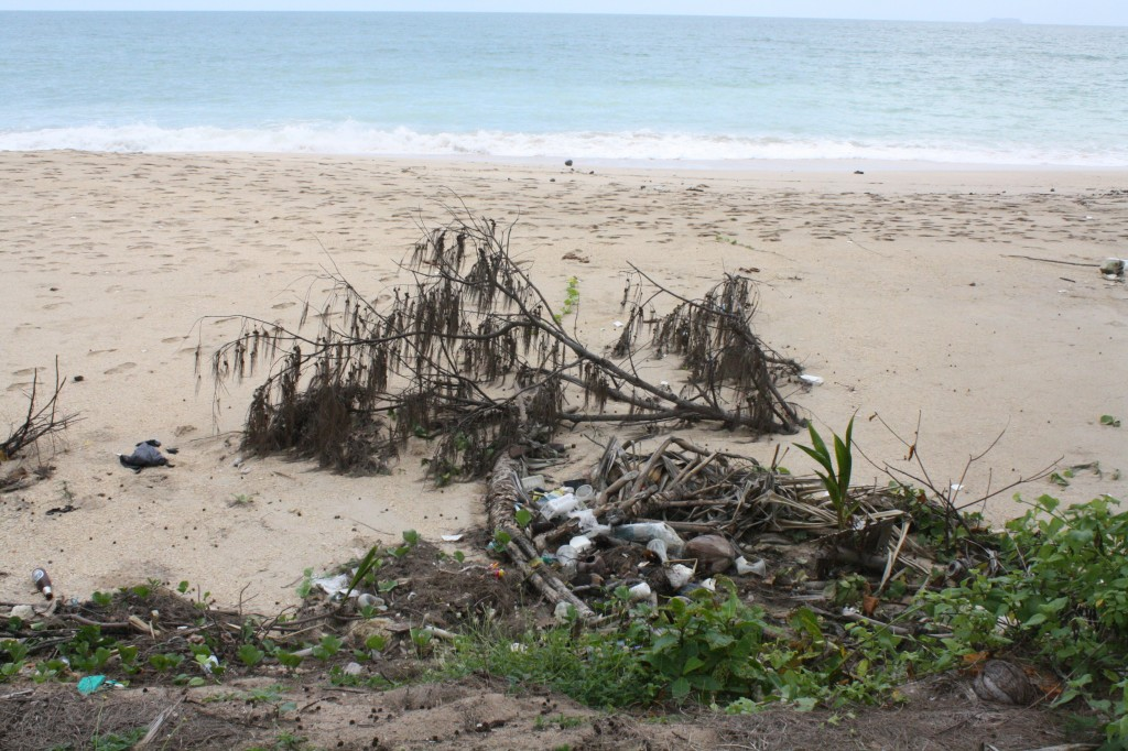 koh lanta beach rubbish phra ae long beach