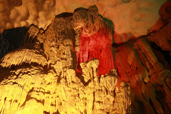 amazing cave halong bay vietnam colours