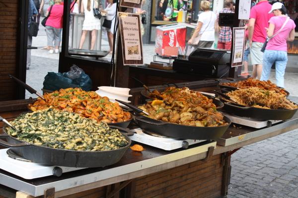 Prague food stalls-  Wencelaus Square