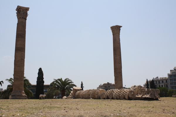 collapsed column temple of olympian zeus