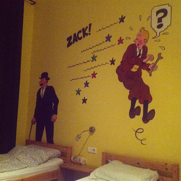sunflower hostel east berlin tintin dorm room