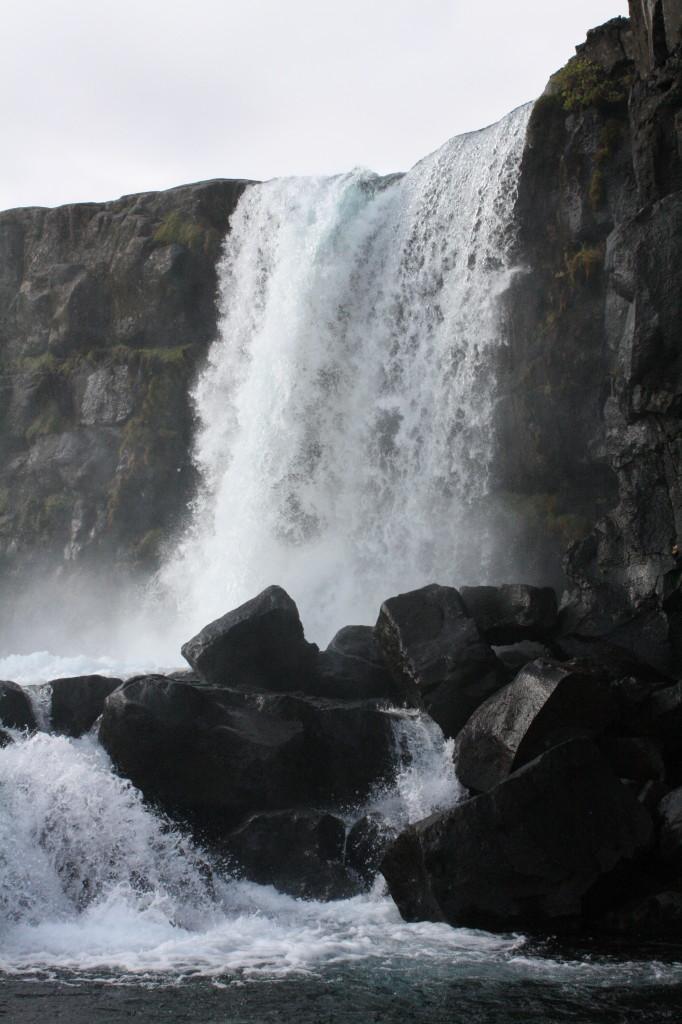 Oxararfoss waterfall - Pingvellir national park Iceland