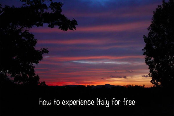 italy for free through helpx