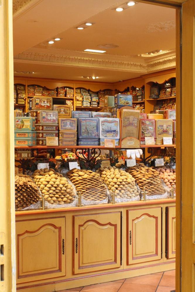 Paris Montmartre shop with tasty treats in window