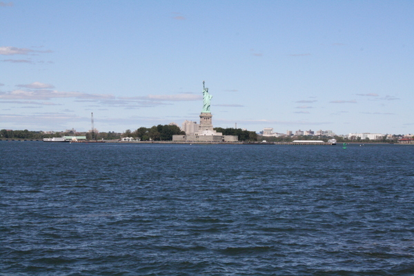 statue of liberty from staten island ferry
