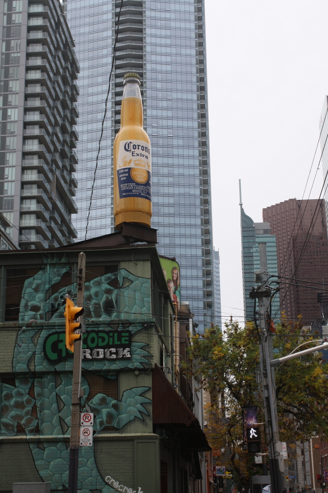 Toronto - Giant Corona beer bottle