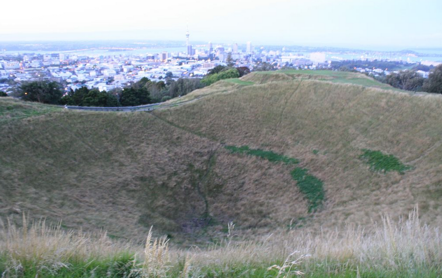 Mt Eden summit crater - Climb a volcano!
