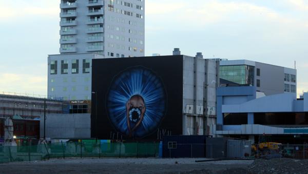 Colourful Christchurch mural