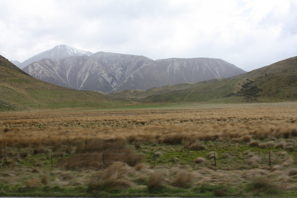 Scenery from the TranzAlpine train