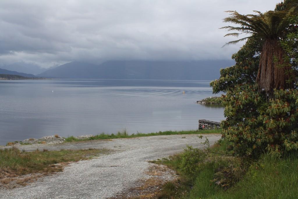 Lake seen from the TranzAlpine train