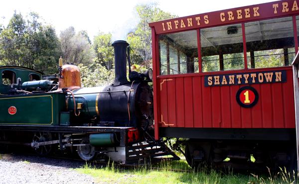 Shantytown steam train