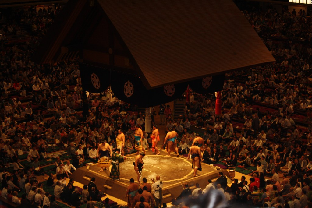 Sumo wrestlers - Tokyo 2015
