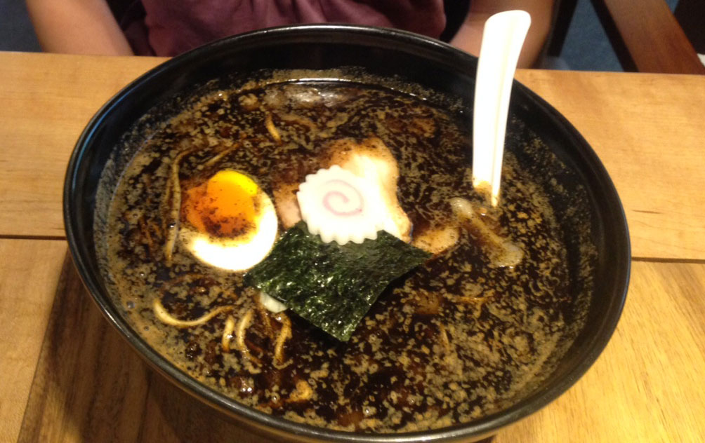 Burnt ramen noodles at Gogyo restaurant Kyoto- NZ Muse