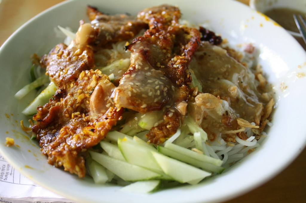 hue barbecued pork with noodles