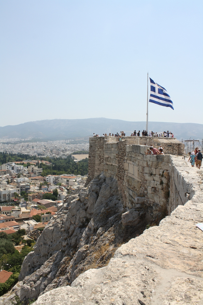 view from acropolis in athens