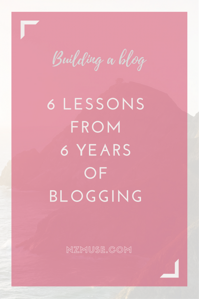 6 lessons in building a blog