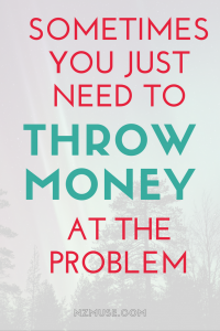 SOMETIMES YOU JUST NEED TO THROW MONEY AT A PROBLEM