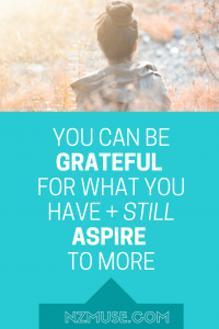 gratitude vs ASPIRATION
